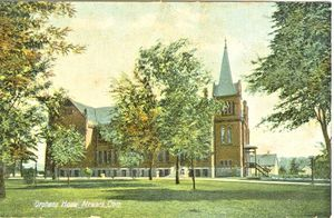 A post card showing the Childrens Home