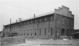 A photo of the Scheidler Machine Works, the building where The Works is located today.