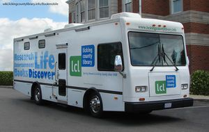 A photo of the Licking County Library's Bookmobile.