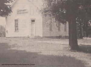 A photo of the Centennial School.