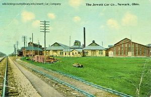 A photo of the Jewett Car Company Factory