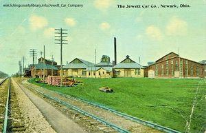 A photo of the Jewett Car Company Factory