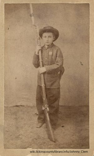 A photo of Johnny Clem in uniform.