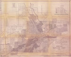 A zoning map of Newark from 1950.