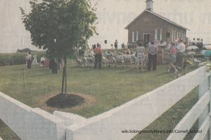 A photo of the Cornell School at its rededication in 1996.